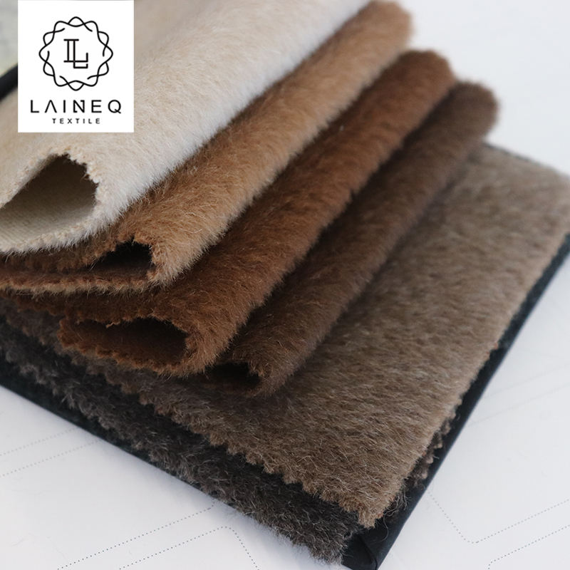 China factory high-end soft 22%llama 78%wool cashmere fabric for coats