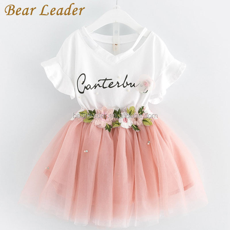 Kids Clothing Sets New Summer Girls Flowers Outfits Fashion Floral Clothes Casual Sweet Party Suits Clothing 3 7Y