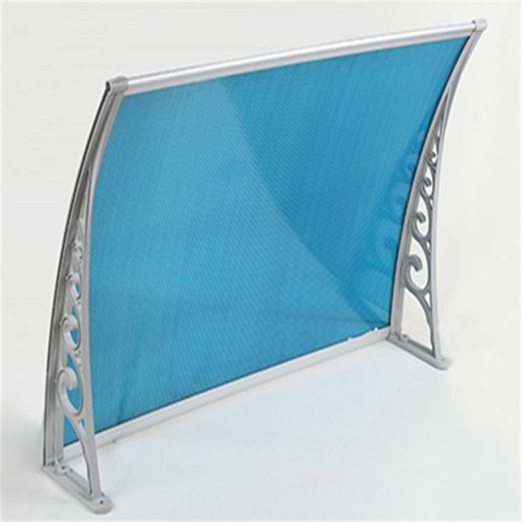 Manufacturer Blue Color Polycarbonate Awning for outside window and door canopy