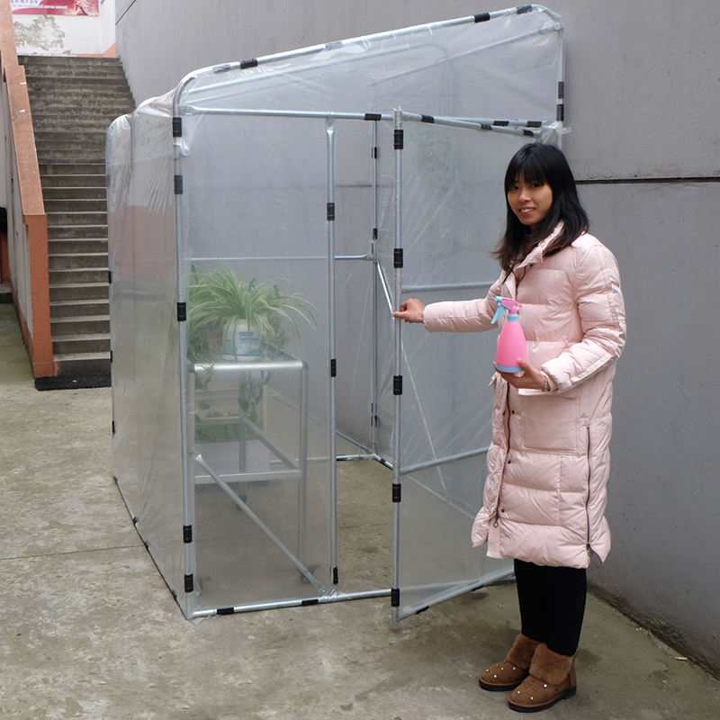 Walk-In Garden Greenhouse Outdoor Mini GreenHouse DIY Plastic Garden Greenhouse