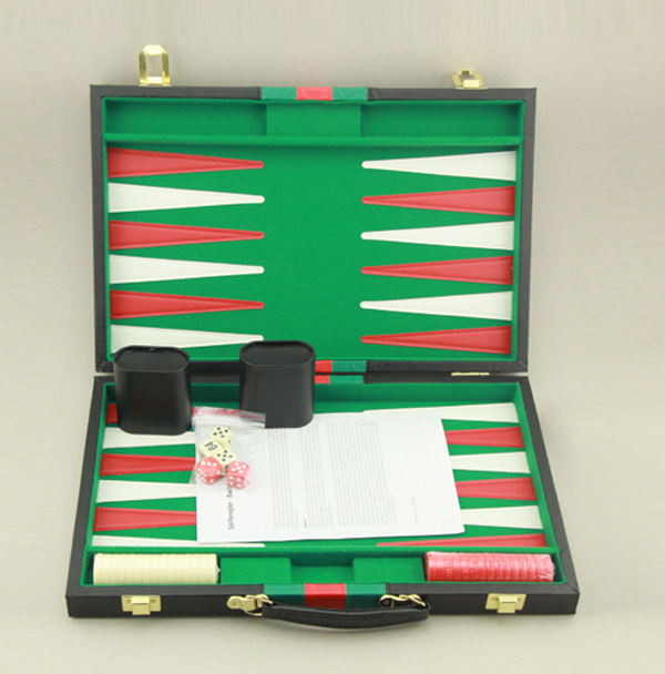 Hoogwaardige fabriek customizing kunstleer <span class=keywords><strong>backgammon</strong></span> <span class=keywords><strong>set</strong></span>
