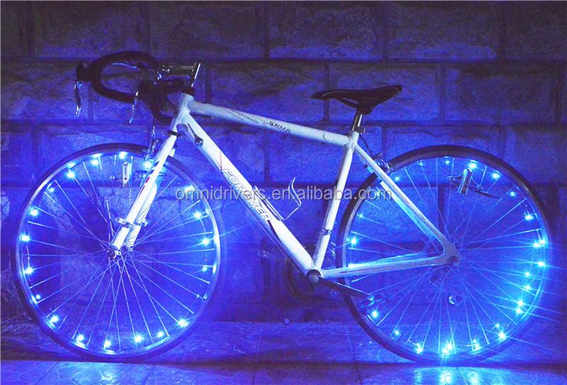 الدراجات <span class=keywords><strong>دراجة</strong></span> سلك صور مشرق للماء أضواء led عجلة ال<span class=keywords><strong>دراجة</strong></span> الزرقاء