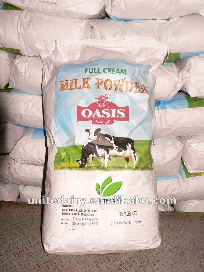 Instant Full Cream Milk Powder packed in 25kg