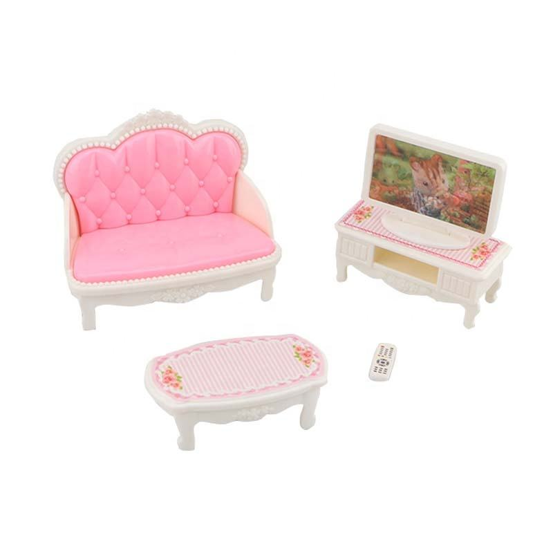 New arrival pretend play set toy living room playhouse mini furniture toys
