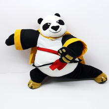 promotion gift animated panda plush toy kung fu panda mascot