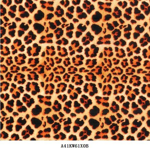 orange Leopard water transfer printing film of leather skin iphone case dip