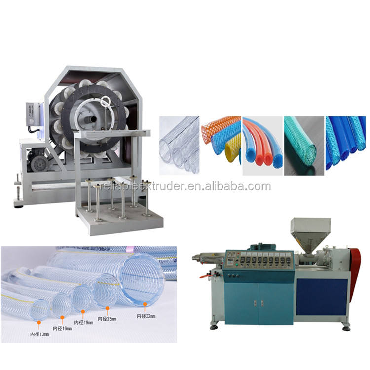 high pressure pvc clear reinforced braided hose making machine
