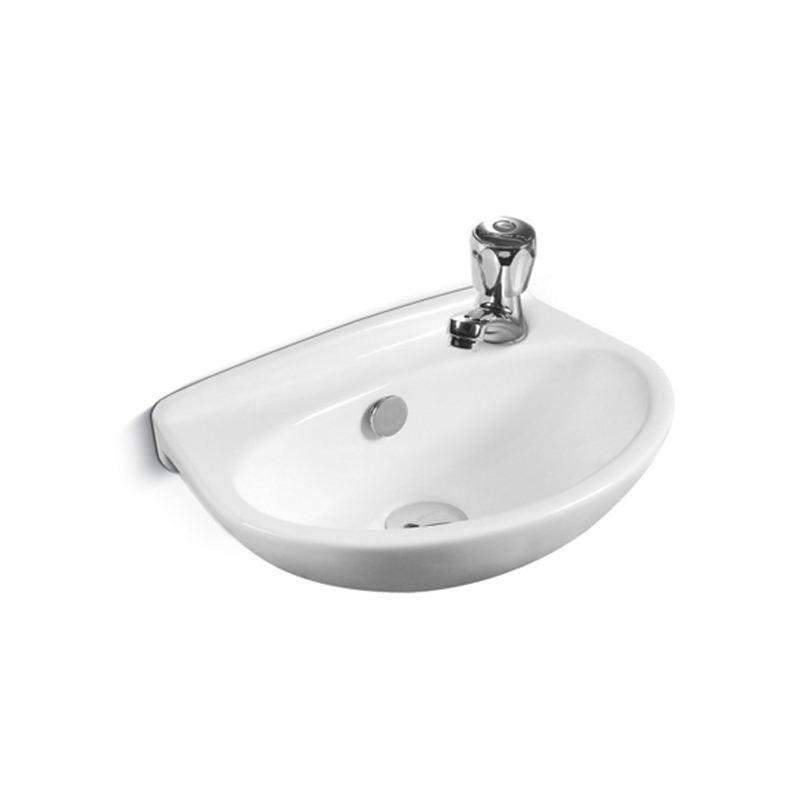 Jaguar small wash basin black shower mixer