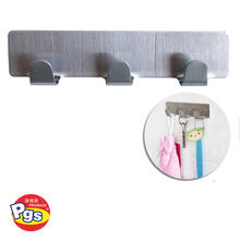 Stainless Steel Self Adhesive Hook Hat Key Rack Bathroom Kitchen Towel Hanger Wall Mount Stick On Sticky Hanger