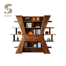Multi layers decorative groceries storage cabinet for living room