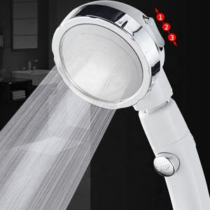 3-Setting 360 degree adjustable Handheld Shower Head Kit,Water Saving Removable filtered hand shower