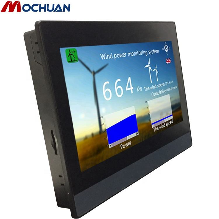 "China software livre resistiva 7 ""modbus hmi human macnine painel de interface"