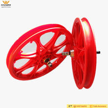 14 Inch red Children Bicycle Plastic Bike Wheels Rims