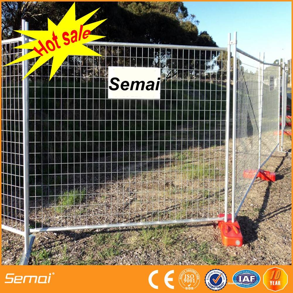 New Products AS 4687 standard 2.4x2.1m temporary fence with concrete base and clamps for Australia