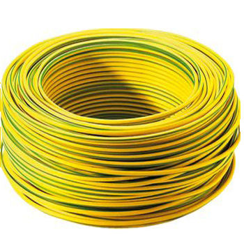 PVC Insulated solid or stranded Yellow Green Cable Earth grounding Electric copper wire Cable