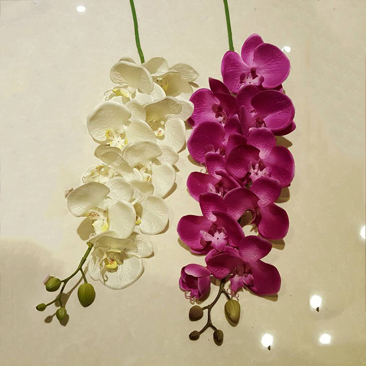high quality artificial real touch silicone orchid
