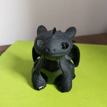 Adorable Black Obsidian Carvings Toothless Dragon Handmade Crystal Night Fury How to Train Your Cute Dragon