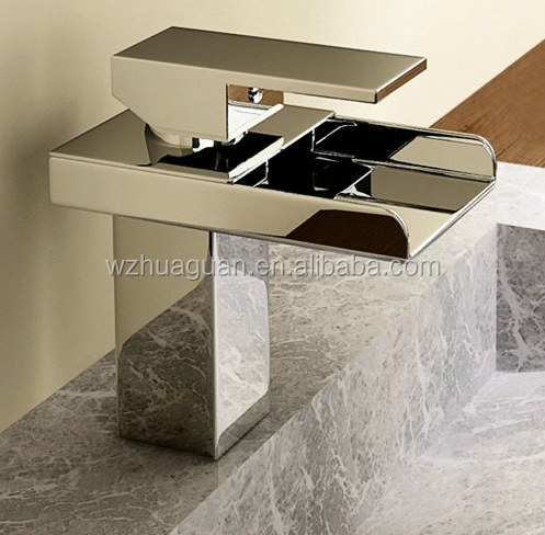 new design luxury suqare brass basin faucet