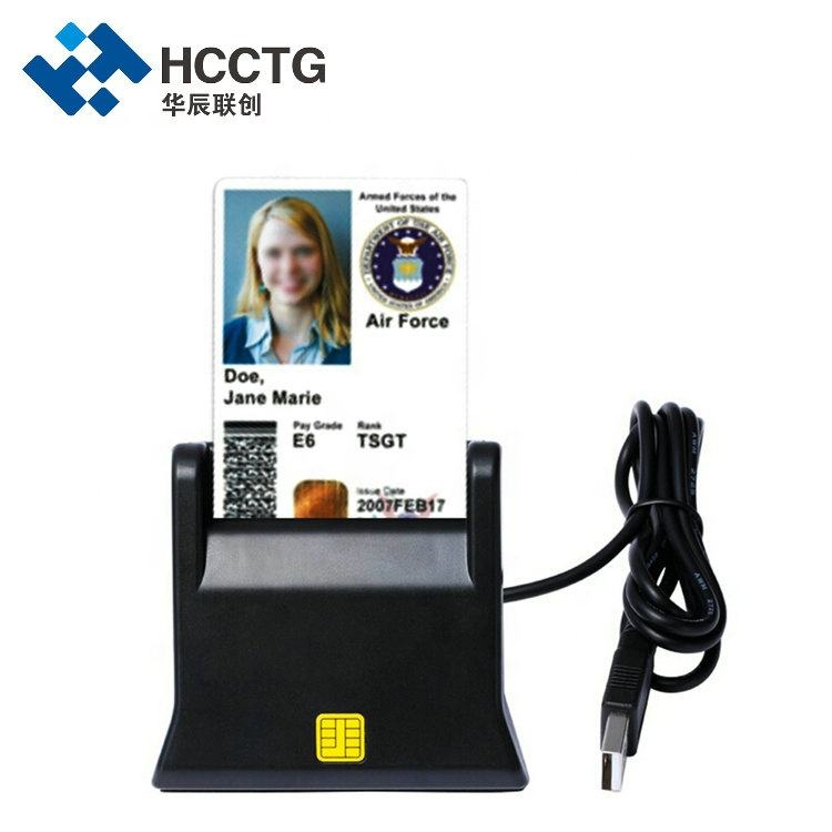 Single ISO 7816 USB Insertion ID/IC EMV Smart Chip Card Reader DCR31