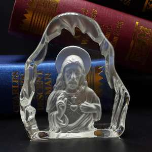 Professional EngravedJesus Christ Crystal Gifts for Souvenir