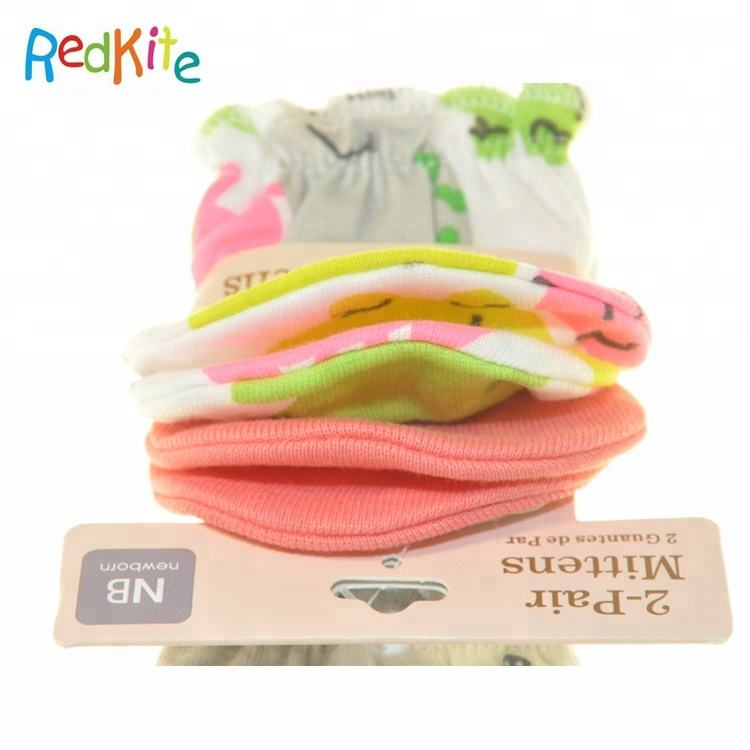 Safety Soft 100% Cotton Rib Newborn Baby Teething Mitt set , Baby Teething Glove, Baby Mitten