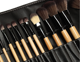 High quality Natural Hair Makeup Brush Set, Private Label 34 pcs Makeup Brush Set