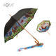 Inside Full Printing Animal Wooden Handle African Sun Straight Umbrella