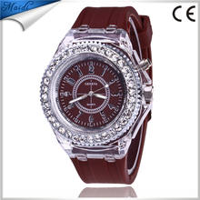 Best Selling 2018 Geneva Brand Luminous LED Silicone Women Dress Watches GW134