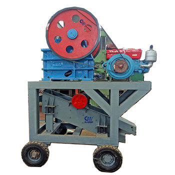 ISO CE certificated jaw crusher with diesel motor for sale
