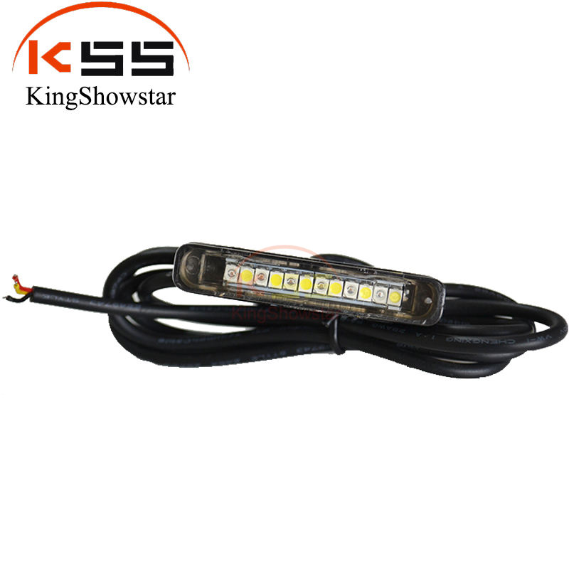 Top level led licht motorfiets strobe waterdichte 12v flasher led licht