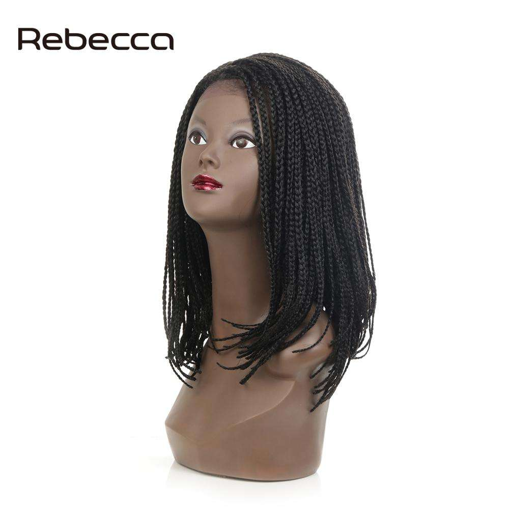 Rebecca Fashion Ombre Braided Lace Front Box Braid Wig With Baby Hair