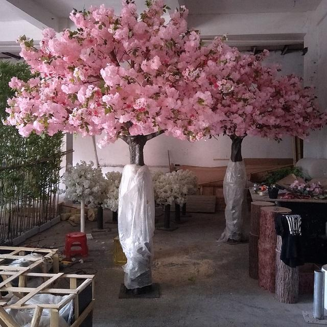 Artificial flower china large decorative artificial cherry blossom tree