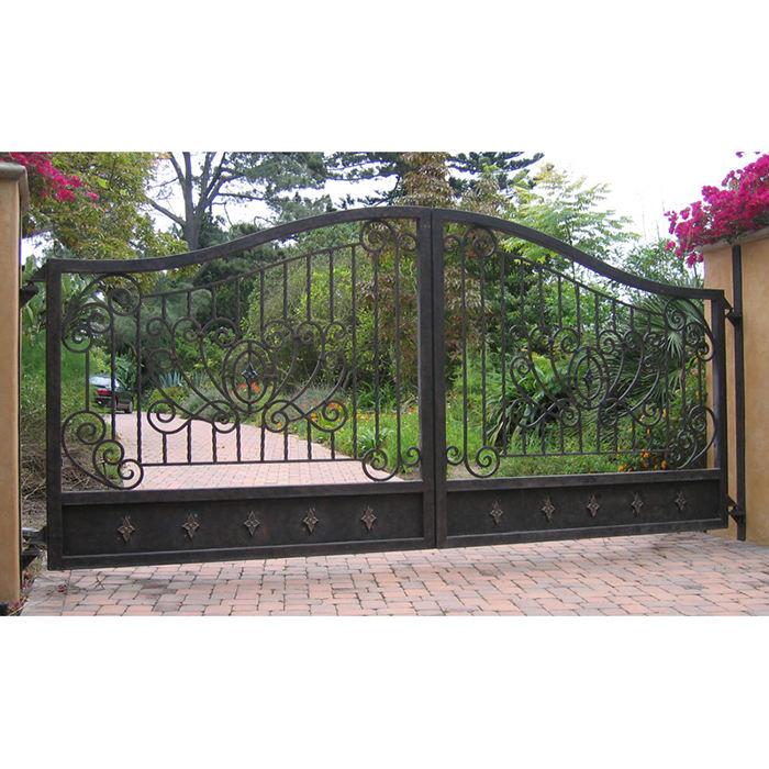 Italiano estilo simples barato belo decorativo antigo ferro forjado portões de garagem