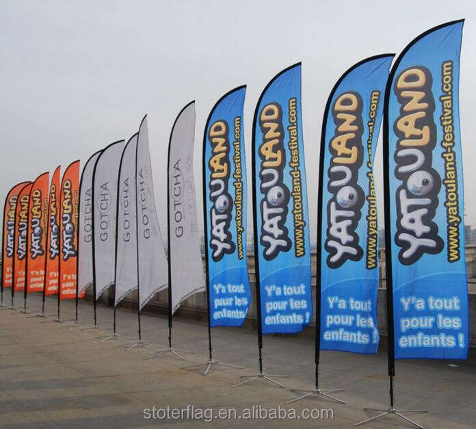 New products Custom Advertising 100% polyester Nylon Printed Beach Flag