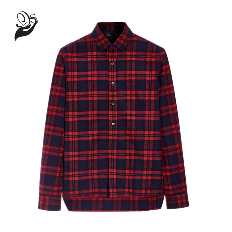 Red And Black Plaid Shirt Luxury Mens dress Shirts