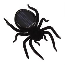 2017 Mini Solar Energy Powered Spider Robot Insect Fun Toy Kids Gift Kid Gags and Practical Jokes