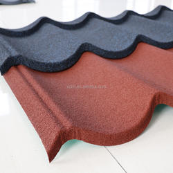 2018 New Type Popular Stone coated metal steel roof tile zinc roof tiles