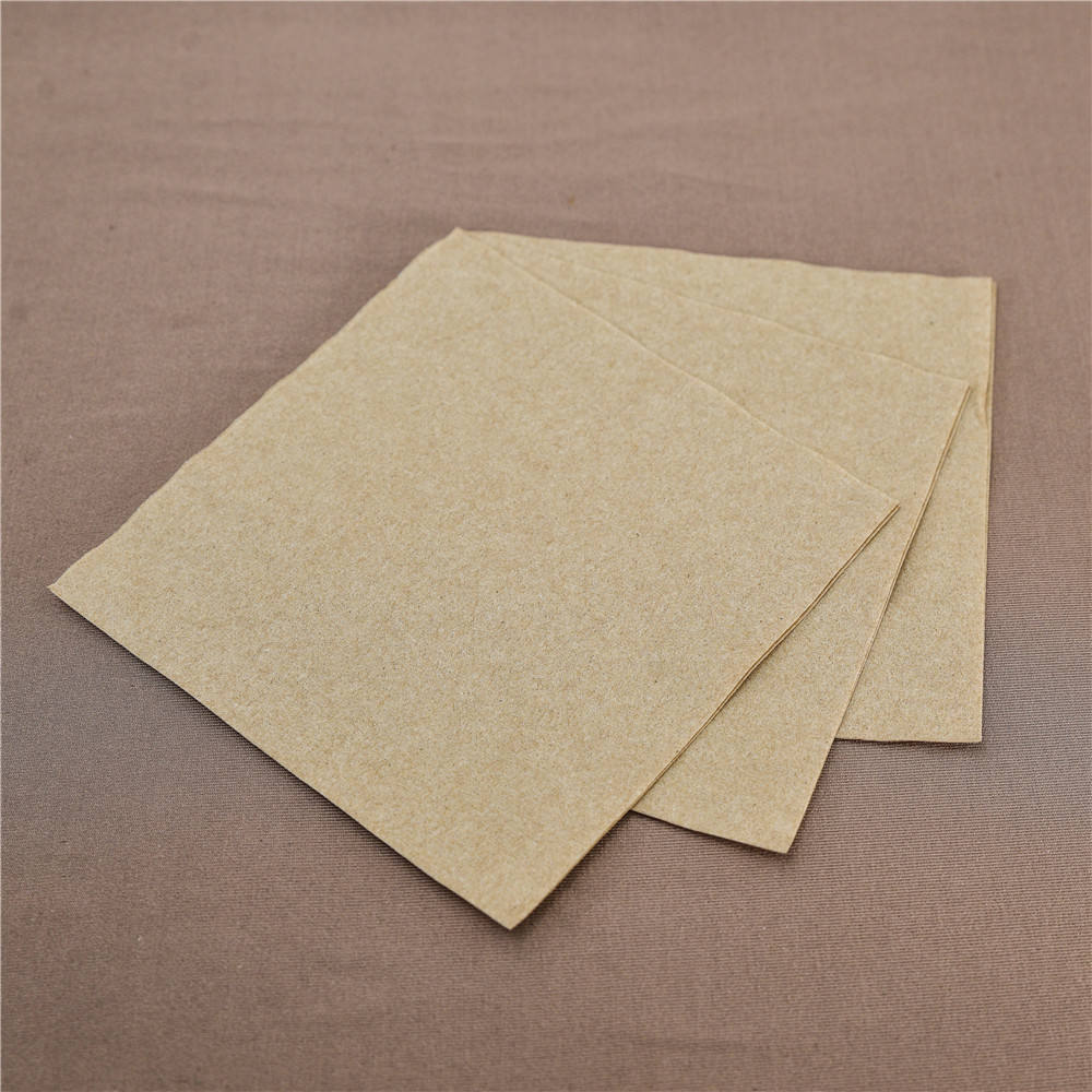 Disposable Kraft restaurant using high quality quarter fold raw materials cocktail paper napkins