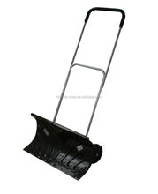 Snow Cleaning Shovel Snow Pusher With Rolling Wheels and Adjustable Handle Shovel