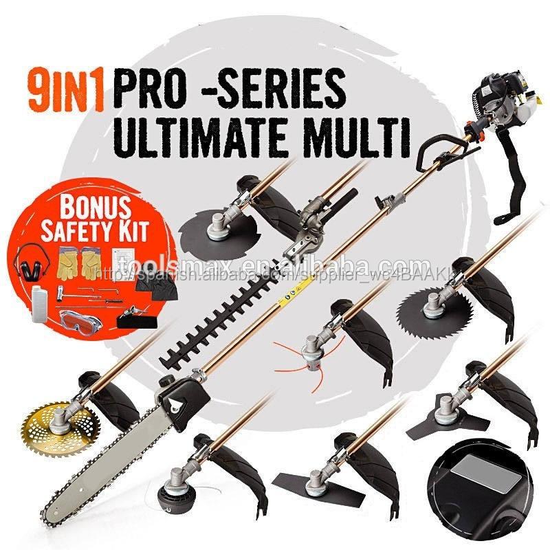 Herramientas profesionales en 8 1,9 en 1 multi cortador de cepillo motoguadañas 42.7cc con el ce