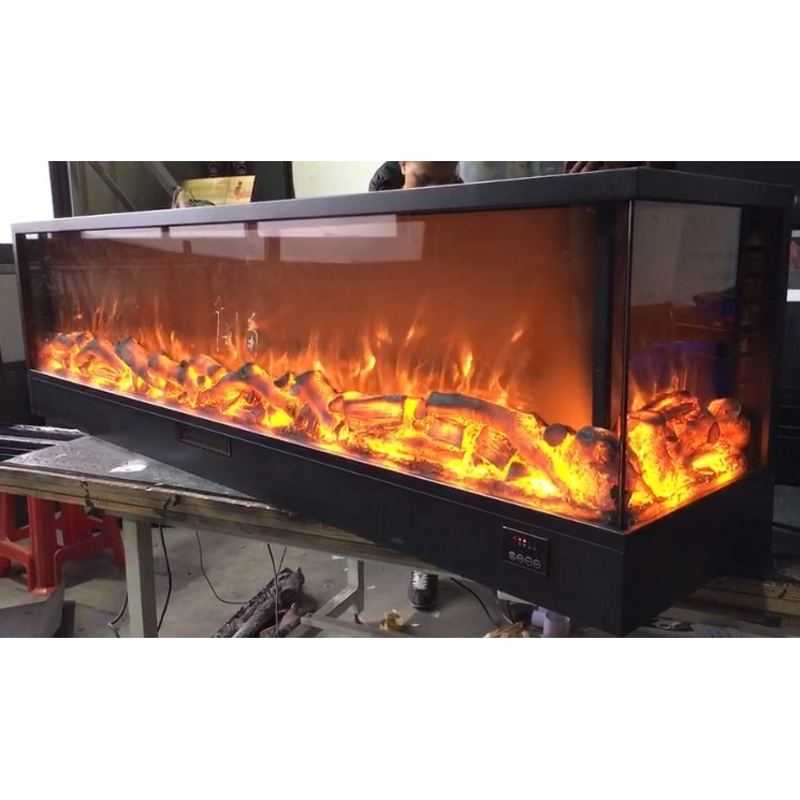 customized classic inserts decorative 2 sides or 3 side electric fireplace for sale