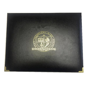 Pu leather A4 size certificate 폴더