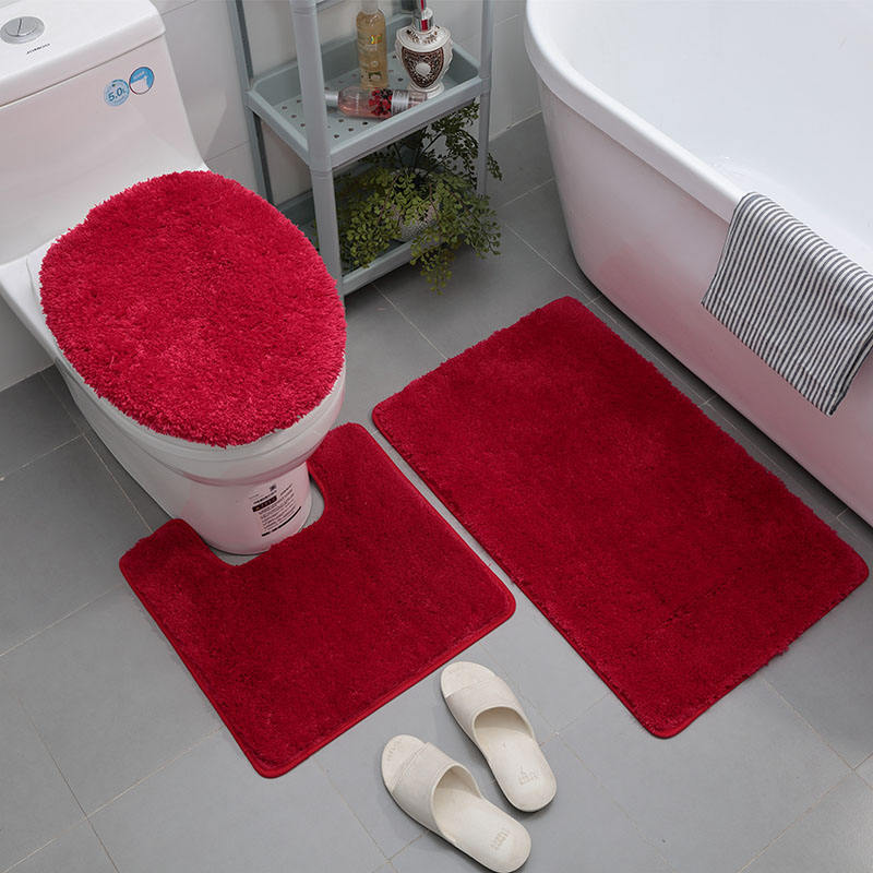 Wholesale high quality water absorption fiber color bar bathroom rug mat
