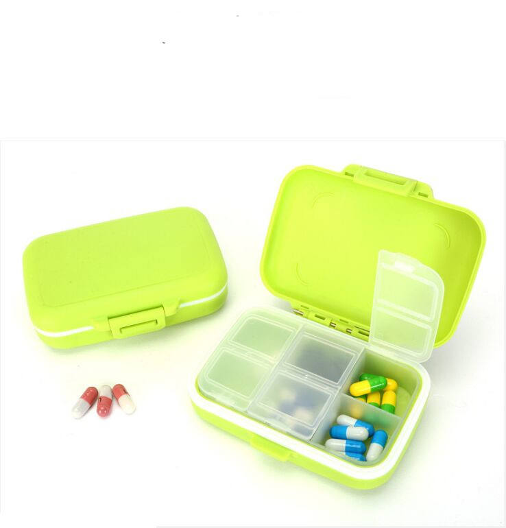 Eco-friendly PP Portatile Mini <span class=keywords><strong>6</strong></span> Compartimento Pill Box Con BPA Libero