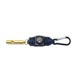 School bag buckle outdoor camping hiking with fashion whistle and mini compass survival key chain