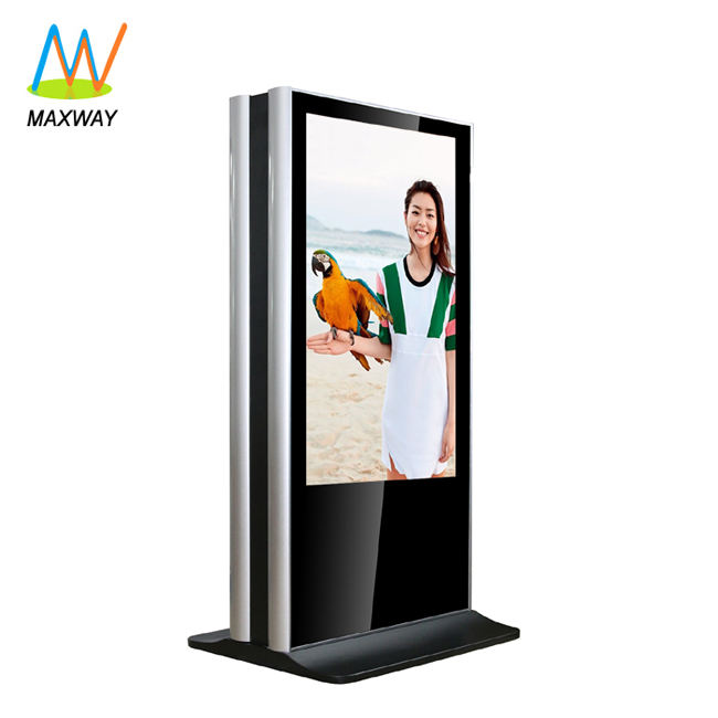 55inch floor stand double-sided kiosk double sided lcd monitor with bracket