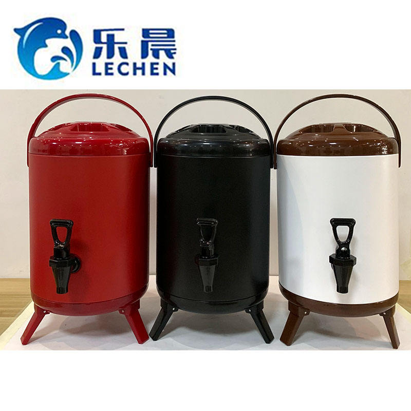 Milk Tea Equipment Stainless Steel Milk Tea Barrel Hot Tea Bucket Heat Preservation Barrel Drink Dispenser