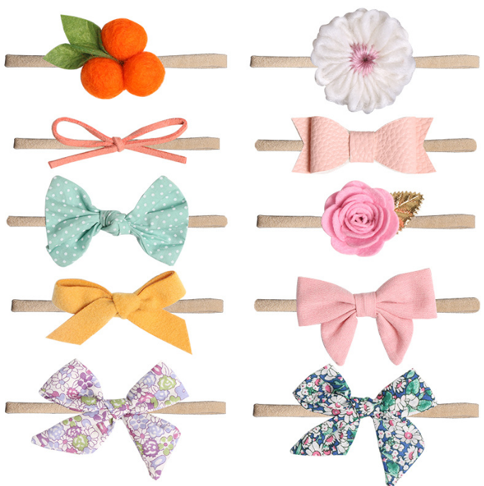 Baby Girl Headbands and Bows Soft Elastic Newborn Infant Toddler Hair Bands & Ties Accessories