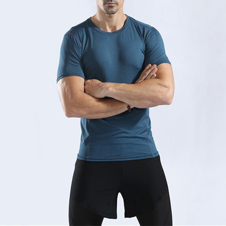 Short Sleeve T-Shirts Quick Dry Compression Running Shirt Fitness Tight Tennis Soccer Jersey Gym Sportswear