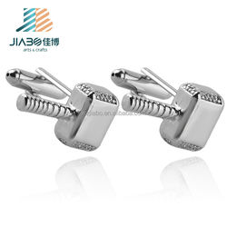 factory cheap wholesale fashion silver hammer cufflinks